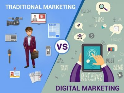 The difference between digital marketing and traditional marketing